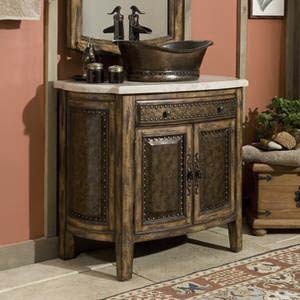 Rustico Vessel Sink Chest Western Bath Vanities Free