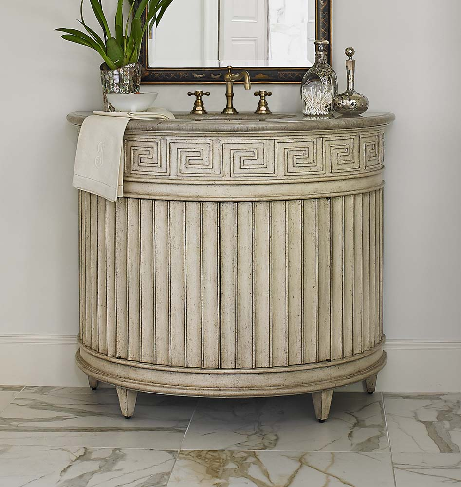 Fluted Sink Chest Light Western Passion