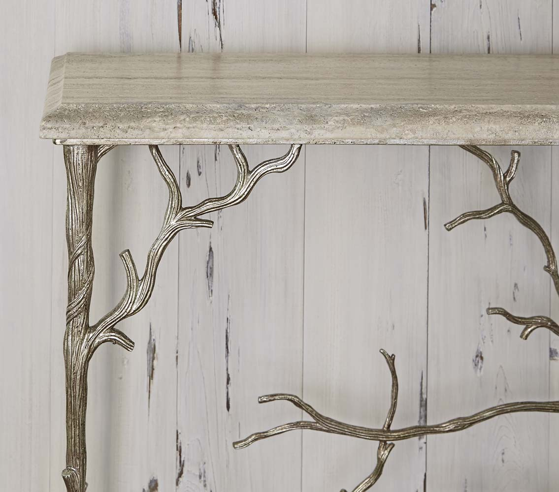 Silver Branch Console Table Western Sofa Tables