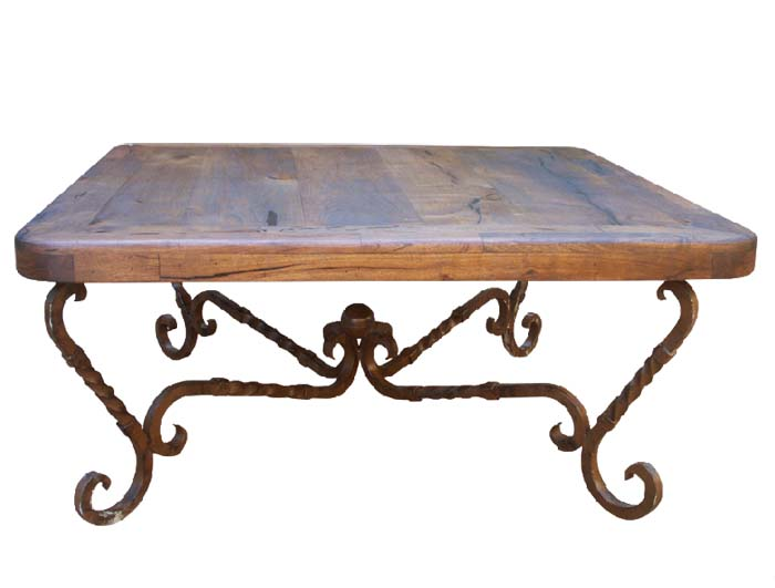 Mesquite And Iron Square Cocktail Table Western Cocktail And End Tables Free Shipping