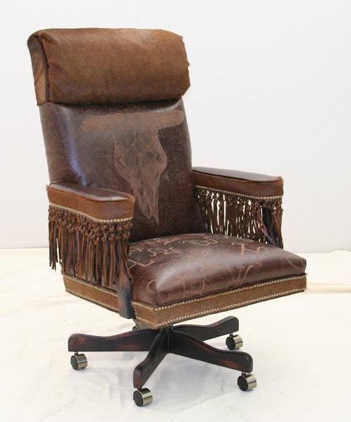 Broken Skull Western Office Chair Western Passion