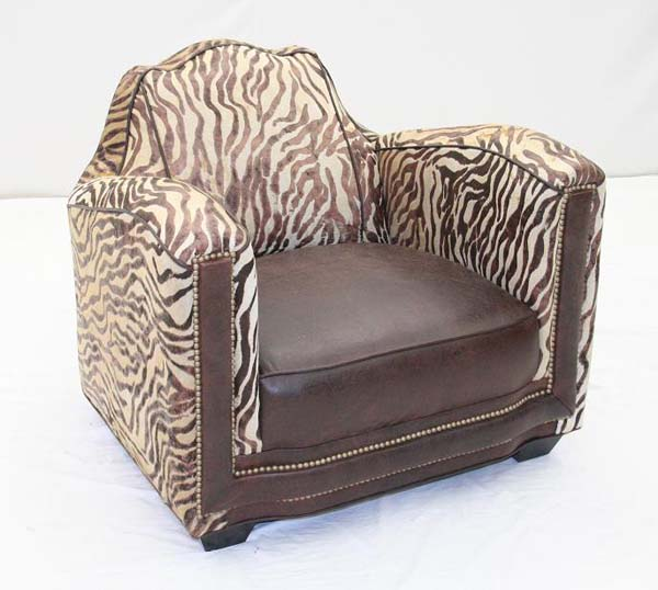 Wild baby zebra chair old hickory tannery furniture free shipping