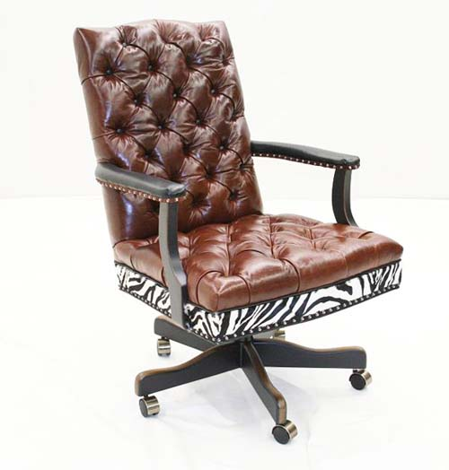 Leather Exotic Office Chair Western Passion