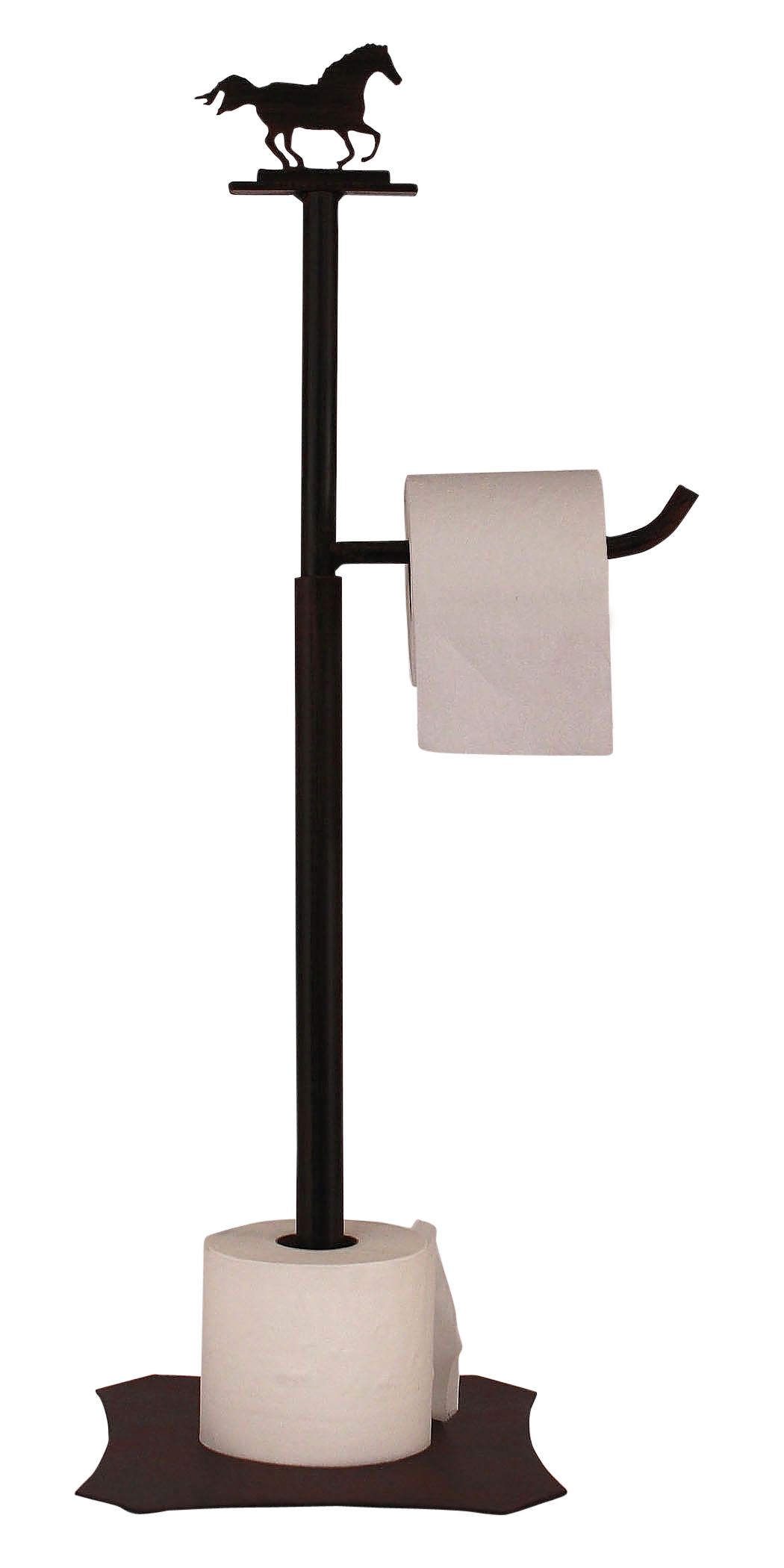 Iron Running Horse Toilet Paper Stand