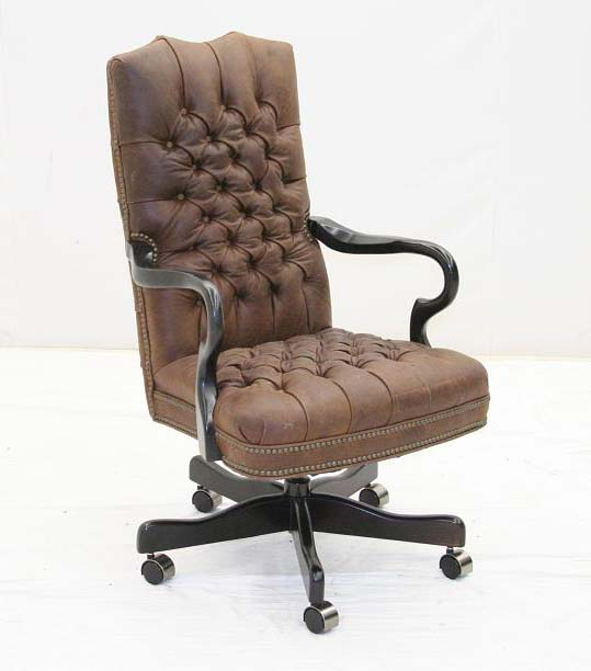 Tufted Leather Executive Chair Western fice Furniture