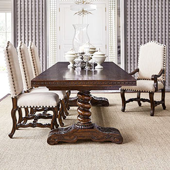 Hand Carved Dining Table Western Dining Tables - Free Shipping!