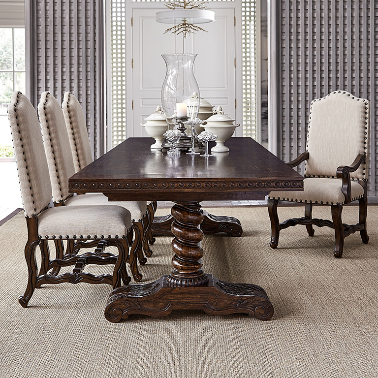 Hand Carved Dining Table: Western Passion