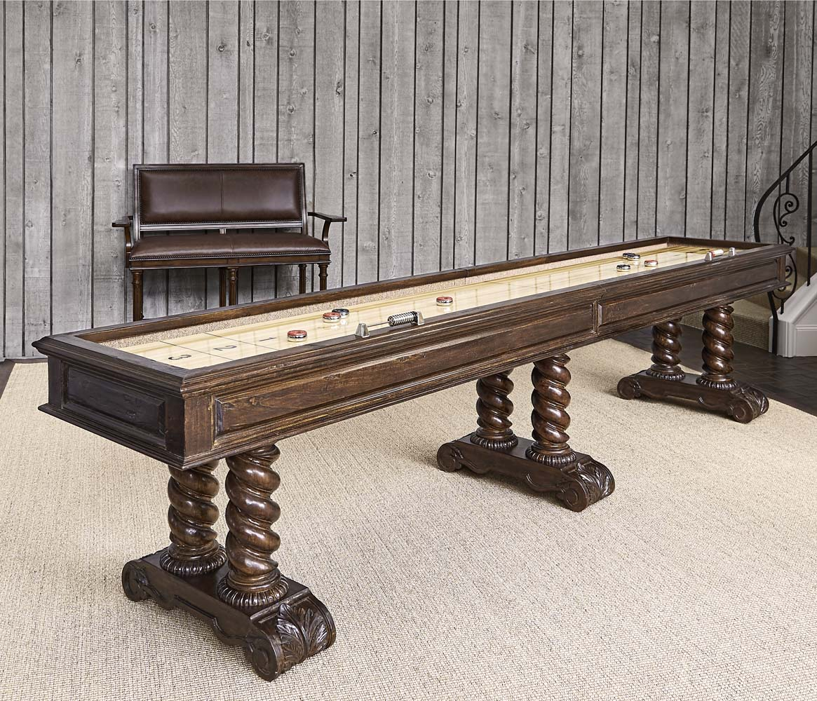 Castilian Shuffleboard Table Game Room Tables And Chairs Free Shipping