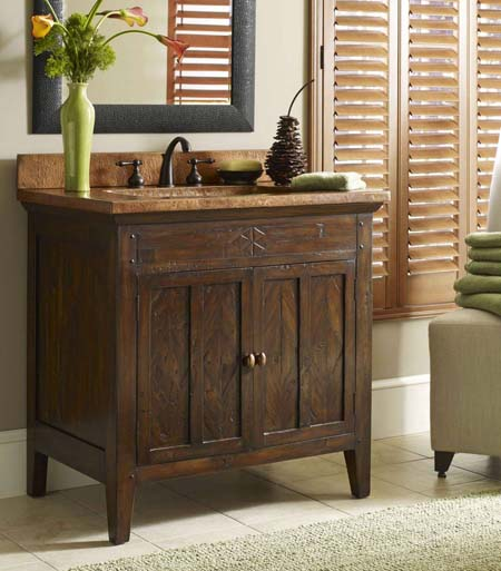 Cobre Rustic Sink Chest: Western Passion