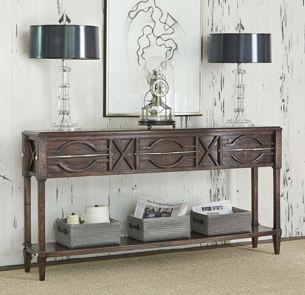 Magnificent Spindle Distressed Console Table Beutiful Home Inspiration Xortanetmahrainfo