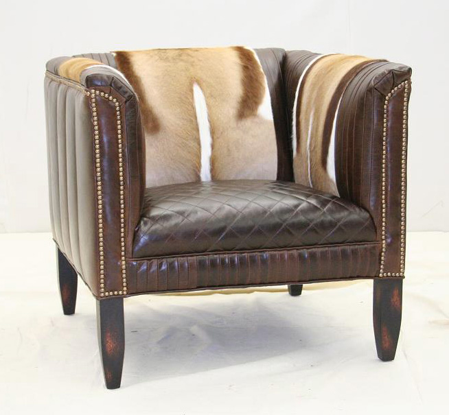 Exotic Hair On Hide Modern Chair Old Hickory Tannery