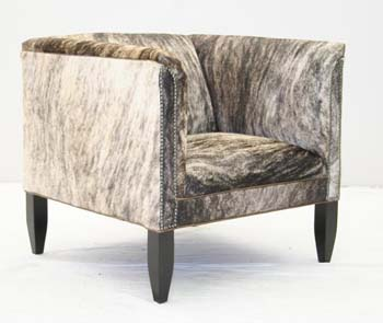 Light Brindle Hair On Hide Chair Old Hickory Tannery