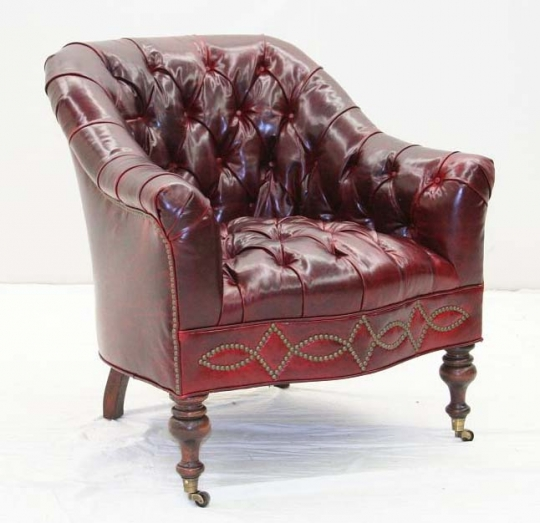 Groovy Tufted Red Leather Chair Creativecarmelina Interior Chair Design Creativecarmelinacom