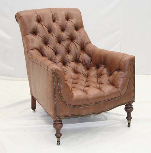 Leather Fireside Club Chair Old Hickory Tannery Furniture