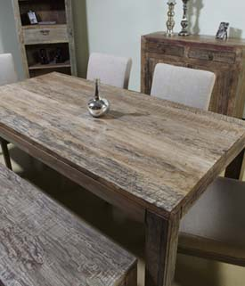 aden rustic rectangular dining table western dining tables - Rustic Dining Table