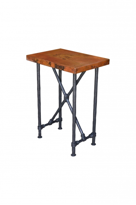 Copper Top Small End Table