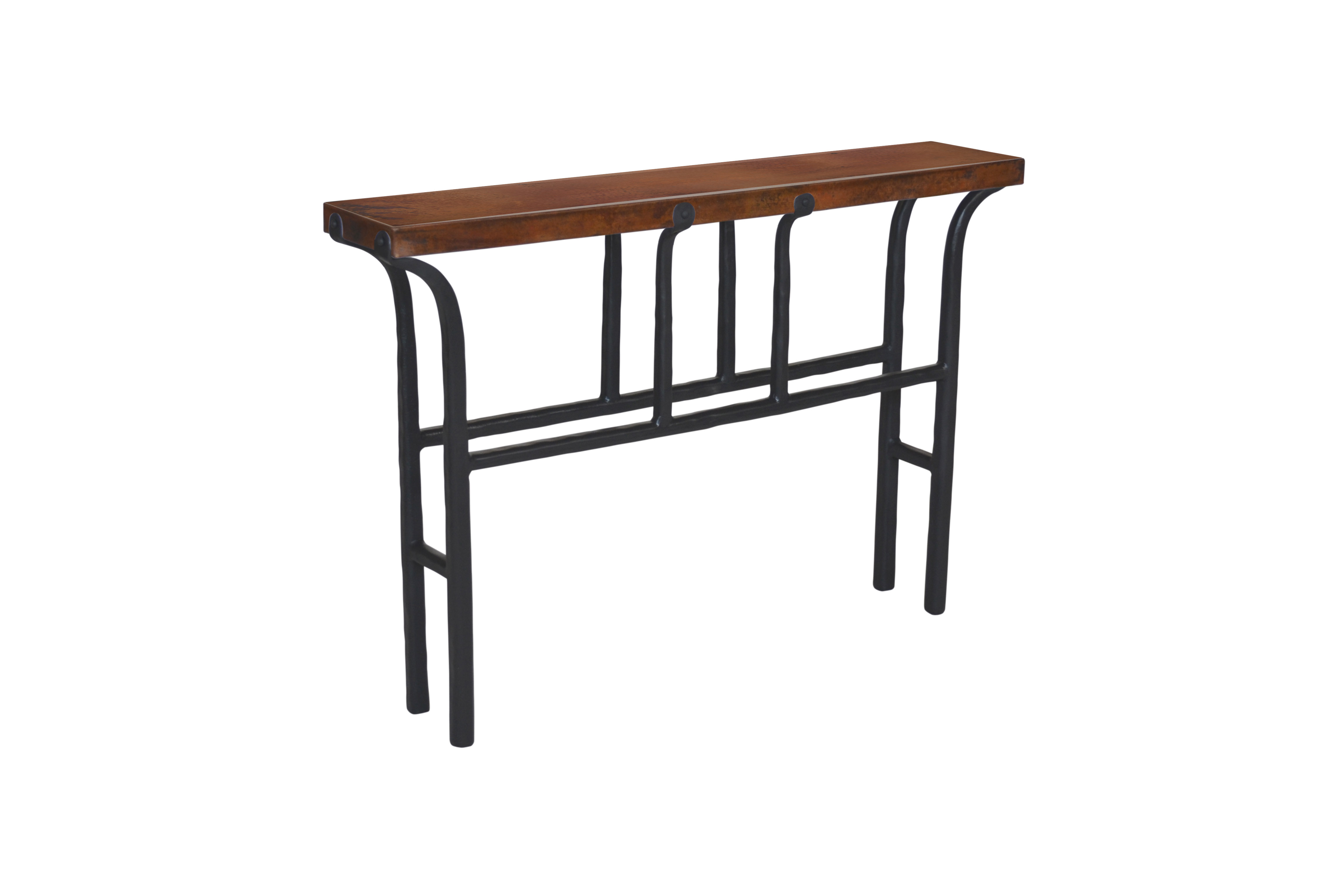 Copper Top Console Table Western Pion