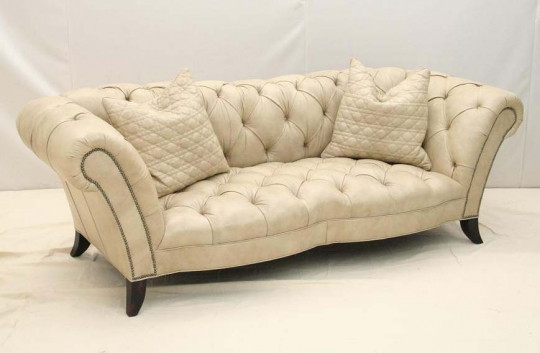 Parchment Luxury Leather Sofa Western