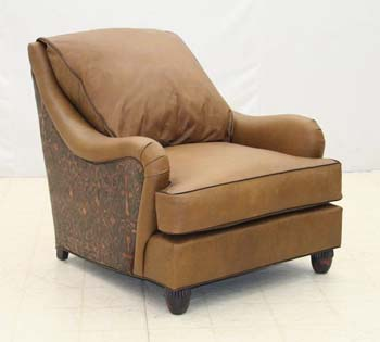 Weathered Whiskey Club Chair Old Hickory Tannery Furniture