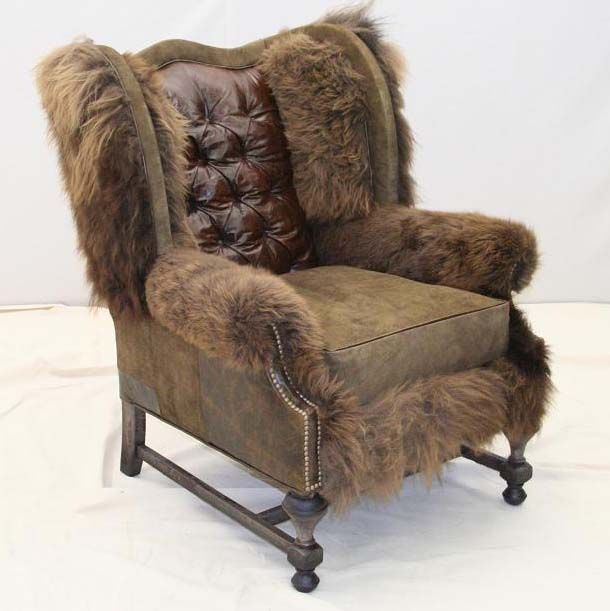 Vintage Hair On Hide Chair Western Passion