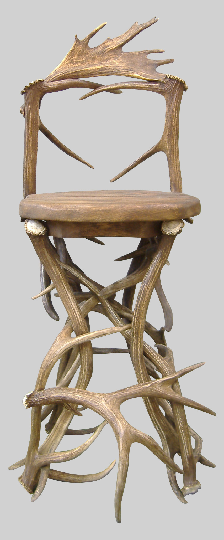 Elk Barstool With Back Western Passion