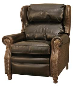 Western Style Brown Leather Recliner Western Accent Chairs