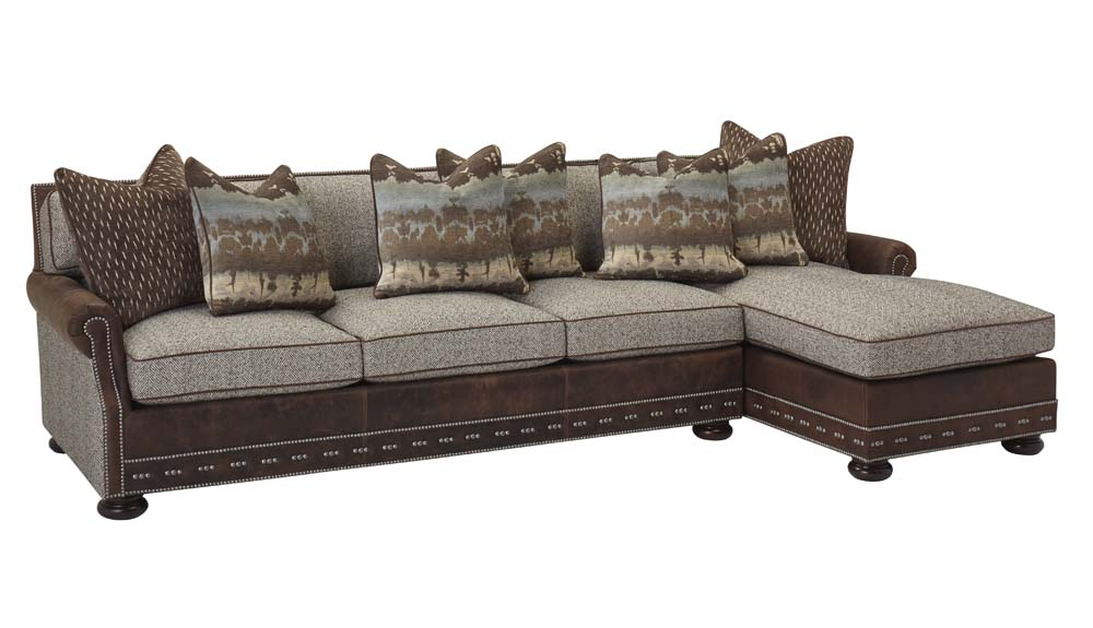 Chaise sectional western sofas and loveseats free shipping for Chaise western