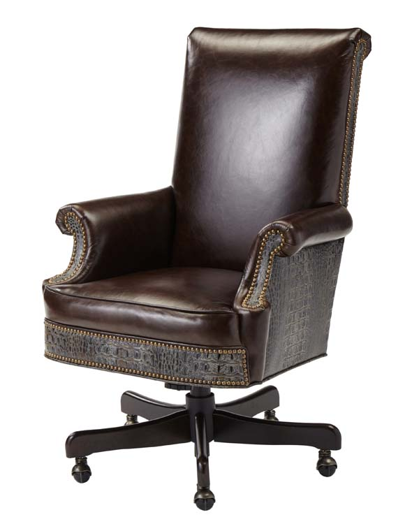Cigar Leather Western Office Chair Western Office
