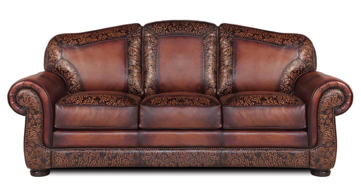 specialty burke leather sofa western sofas and loveseats free shipping. Black Bedroom Furniture Sets. Home Design Ideas