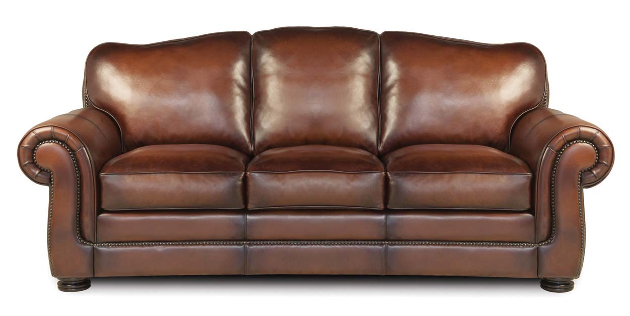 Specialty Classic Leather Sofa: Western Passion