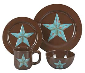 Rustic Star Western Dinnerware Set Western Kitchen and Dining Decor ...
