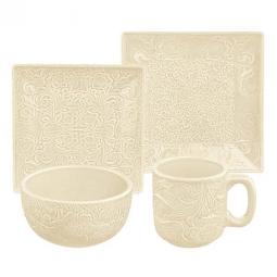 Cream Western Style Dinnerware  sc 1 st  Western Passion.com & Western Kitchen Decor Western Table Runners u0026 Placemats ...