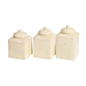 cream western canister set western kitchen and dining