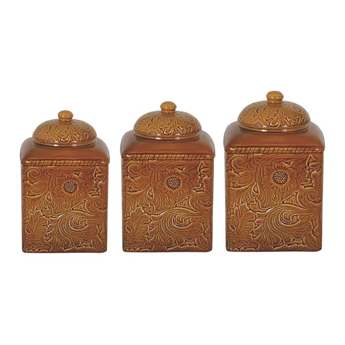 mustard western canister set western kitchen and dining