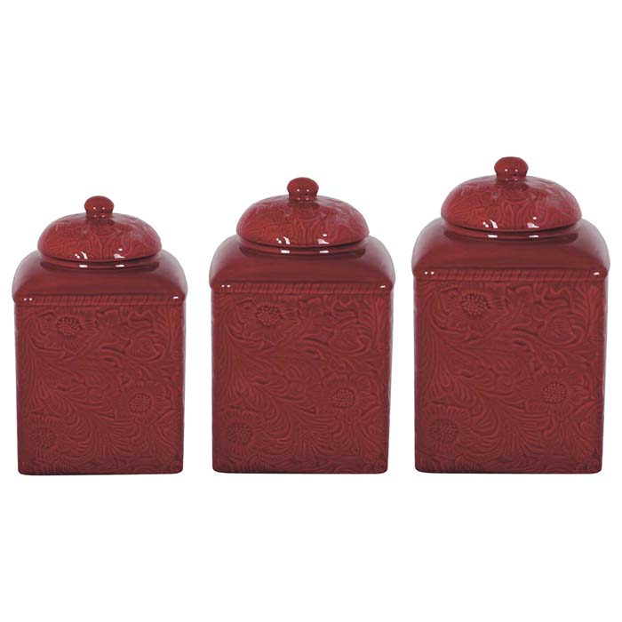 red western canister set western kitchen and dining decor