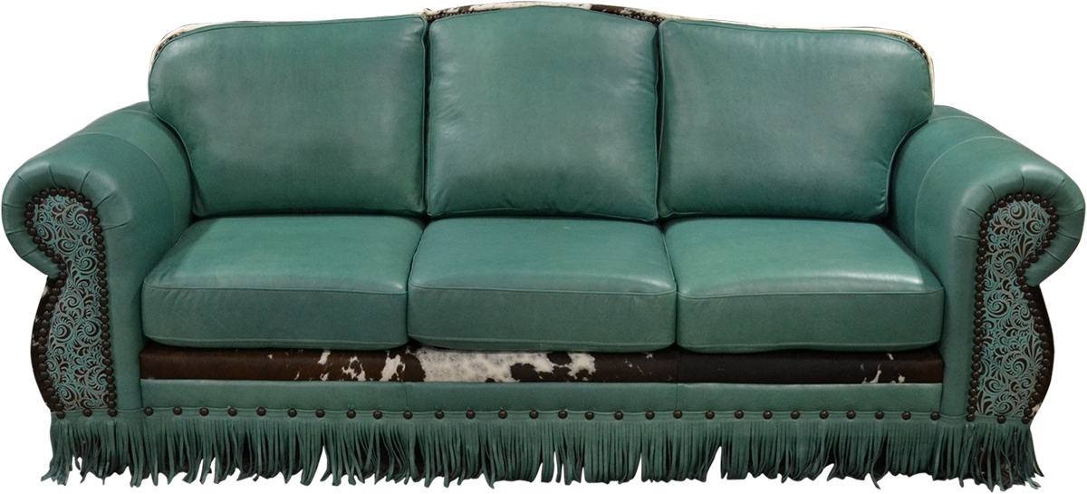 Waltz Western Turquoise Sofa Western Passion