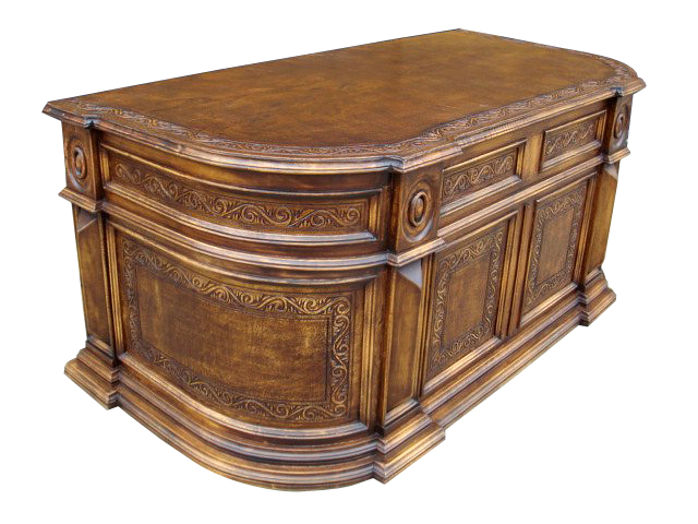 Elsa Tooled Leather Desk Western Passion