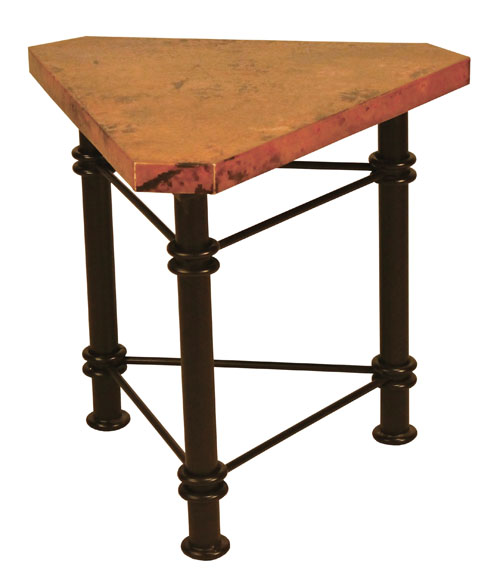Triangle Copper Accent Table Copper Furniture Free Shipping
