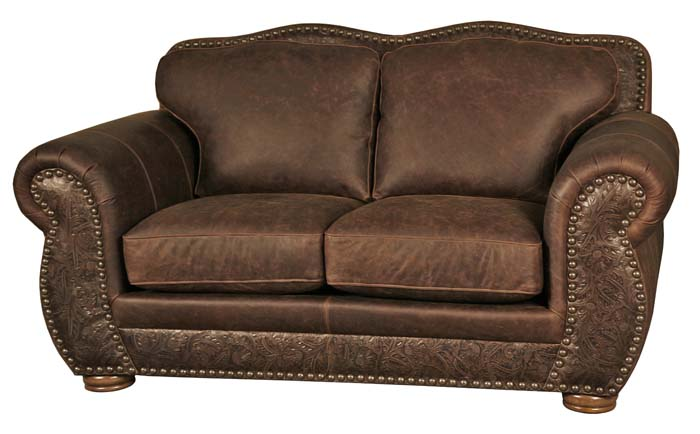 Western Style Leather Loveseat 6628 Western Passion