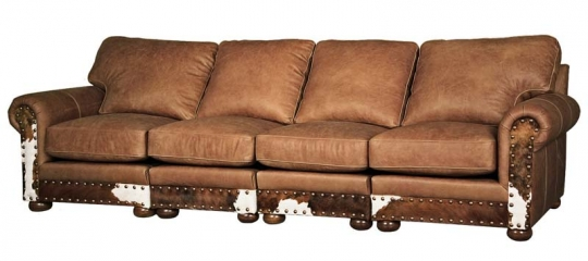 Western Style 4 Cushion Sofa