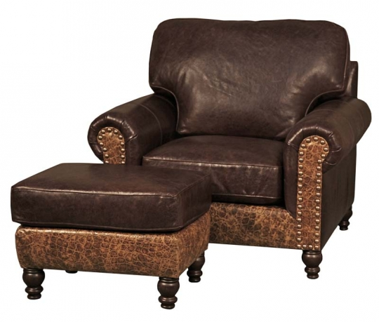 Superb Boone Western Leather Club Chair Alphanode Cool Chair Designs And Ideas Alphanodeonline