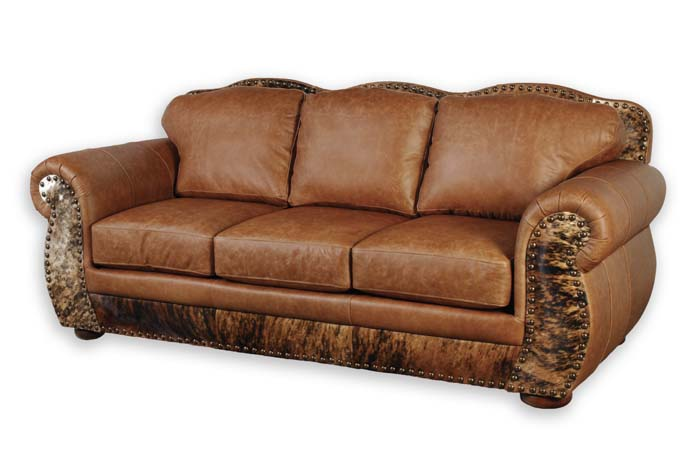 Western leather sofa 70 western sofas and loveseats free Cowboy sofa
