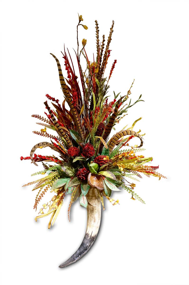 Red Floral Wall Arrangement Western Passion
