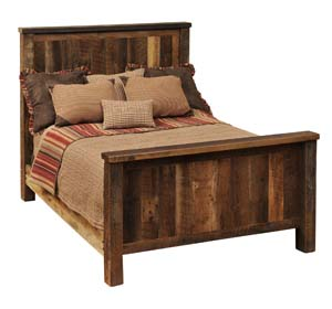 Traditional Bedroom Furniture on Barnwood Rustic Traditional Bed Western Bedroom Furniture   Free