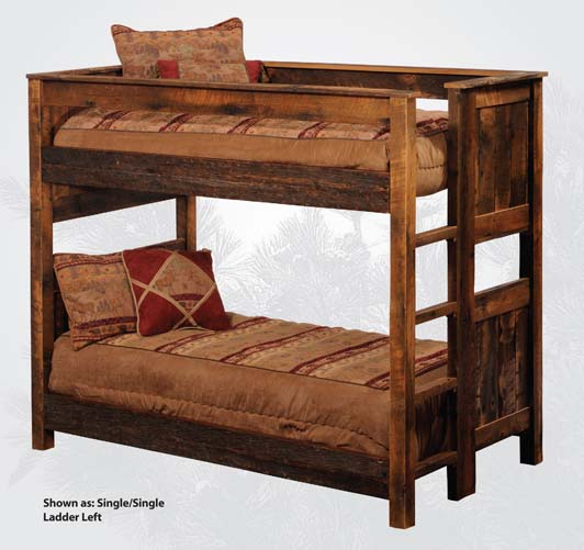 Rustic Barnwood Bunk Beds Western Bedroom Furniture Free Shipping