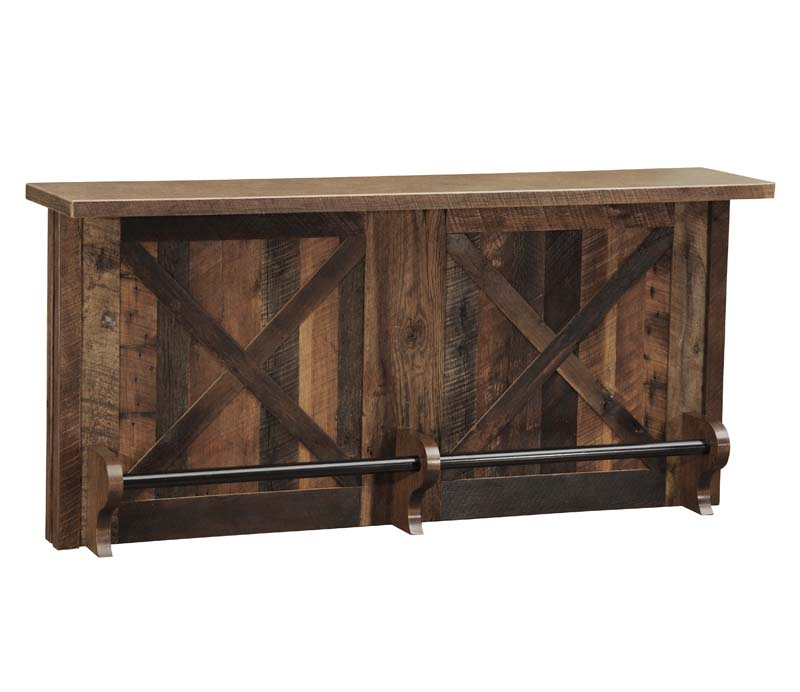 Barnwood 7 Foot Bar Western Barstools And Bars Free Shipping