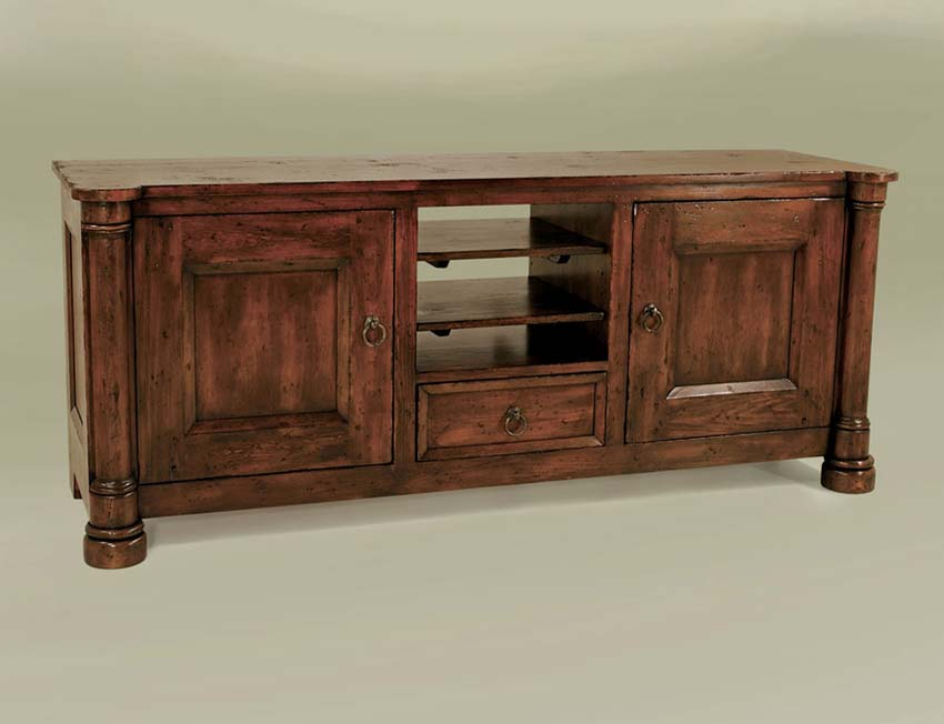 Large Distressed TV Cabinet: Western Passion