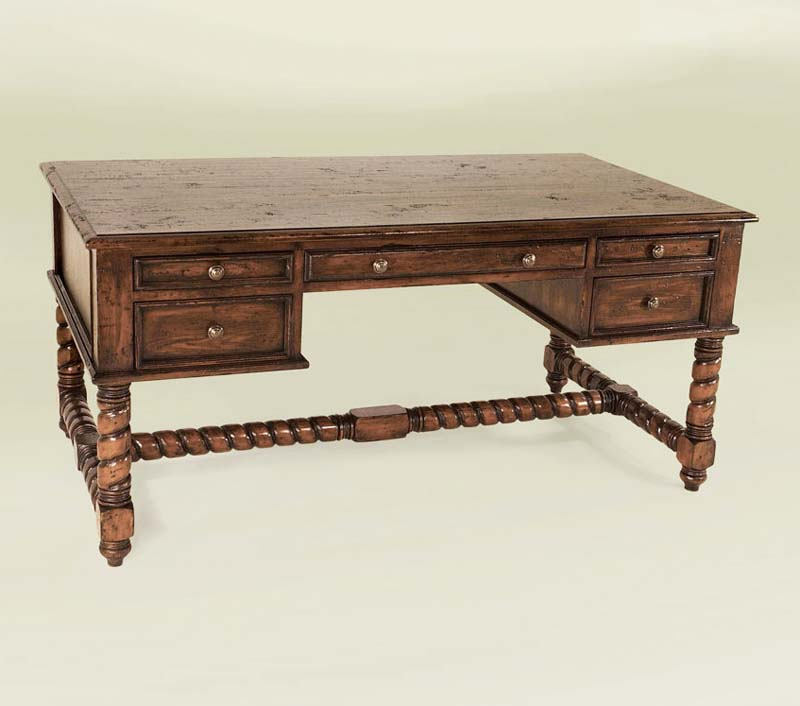 Refined Rustic Western Desk Western Office Furniture Free Shipping