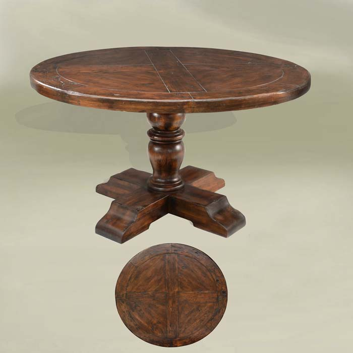 Old ranch round dining table western dining tables free for Table western