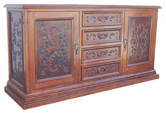 Large Hand Painted Buffet